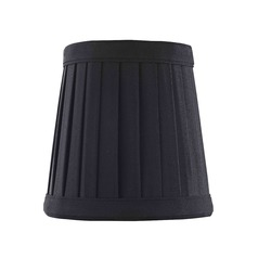 Clip-On Empire Pleated Black Lamp Shade