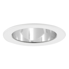 Clear Adjustable Reflector LED GU10 Trim for 4-Inch Line and Low Voltage Recessed Cans