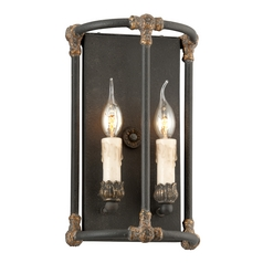 Troy Lighting Sconce Wall Light in Distressed Black / Antique Gold Finish B3523