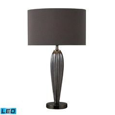 Dimond Lighting Steel Smoked, Black Nickel LED Table Lamp with Oval Shade