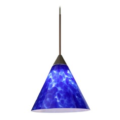 Besa Lighting Kani Bronze Mini-Pendant Light with Conical Shade