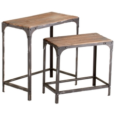 Cyan Design Winslow Raw Iron & Natural Wood Table