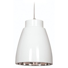 Kenroy Home Lighting Silo White and Nickel Mini-Pendant Light
