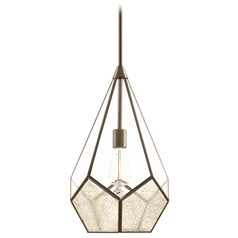 Cinq Antique Bronze Pendant Light with Abstract Shade by Progress Lighting