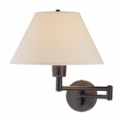 Lite Source Lighting Lite Source Lighting Swinger Dark Bronze Swing Arm Lamp LS-1171D/BRZ