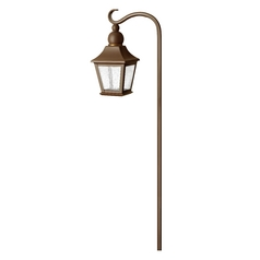 Low Voltage Seeded Glass Path Light Copper Bronze Hinkley Lighting