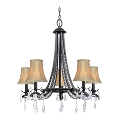 Lite Source Lighting Macy Dark Bronze Crystal Chandelier