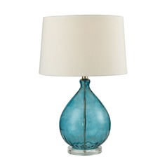 Dimond Lighting Teal Table Lamp with Empire Shade