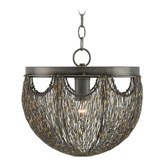 Currey and Company Eduardo Natural Iron / Brass Pendant Light