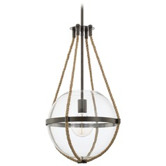 Capital Lighting Beaufort Nordic Grey Pendant Light with Globe Shade