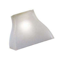Square Glass Shade - 2/-1/4-Inch Fitter Opening