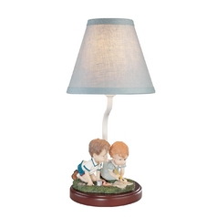 Design Classics Children's Accent Table Lamp with Two Shades 16 COLORING BOOK