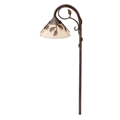 Brass Constructed Leaf Design Low Voltage Path Light