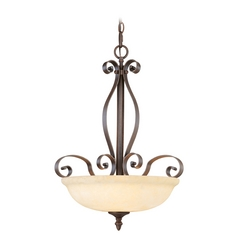 Livex Lighting Manchester Imperial Bronze Pendant Light with Bowl / Dome Shade