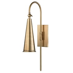 Hudson Valley Lighting Alva Aged Brass Sconce