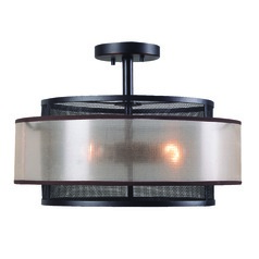 Alessandra Oil Rubbed Bronze Semi-Flushmount Light by Kenroy Home