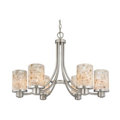 Modern Chandelier with Mosaic Glass