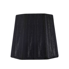 Clip-On Hexagon Black Lamp Shade