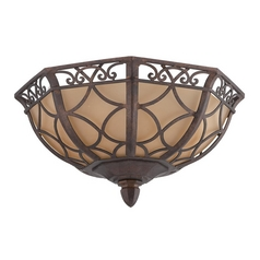 Jeremiah Lighting Evangeline Peruvian Bronze Flushmount Light