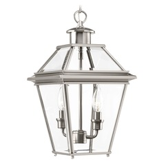 Progress Lighting Burlington Brushed Nickel Outdoor Hanging Light