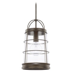Capital Lighting Beaufort Nordic Grey Pendant Light with Conical Shade