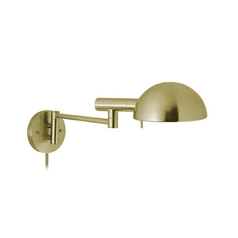 Sonneman Lighting Modern Swing Arm Lamp in Satin Brass Finish 3042.38