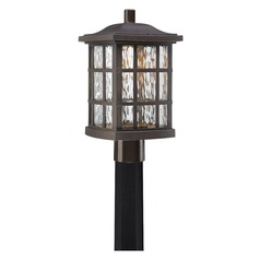 Quoizel Lighting Stonington LED Palladian Bronze Post Light