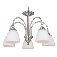 Craftmade Lighting Brighton Brushed Polished Nickel Chandelier