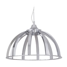 Craftmade Lighting Chrome LED Mini-Pendant Light with Bowl / Dome Shade