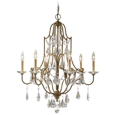 Feiss 6-Light Chandelier in Oxidized Bronze
