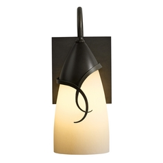 Hubbardton Forge Lighting Flora Dark Smoke Outdoor Wall Light