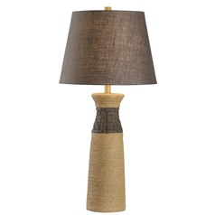 Kenroy Home Sisal Rope Table Lamp with Empire Shade