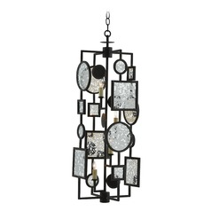 Currey and Company Gallerist Blacksmith/raj Mirror Chandelier