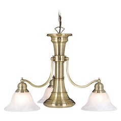 Standford Antique Brass Chandelier by Vaxcel Lighting