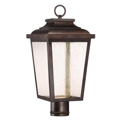 Seeded Glass LED Post Light Bronze Minka Lavery
