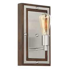 Industrial Sconce Brushed Nickel Westerly by Quoizel Lighting