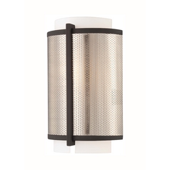 Modern Sconce Wall Light in Bronze W/brushed Nickel Finish