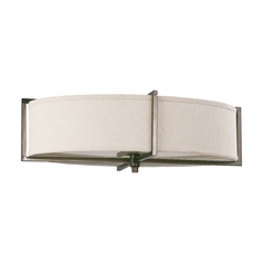 Oval Flushmount Light in Hazel Bronze Finish