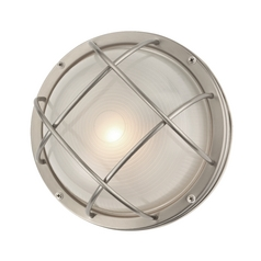 Marine Bulkhead Round Outdoor Wall / Ceiling Light   10 Inches Wide