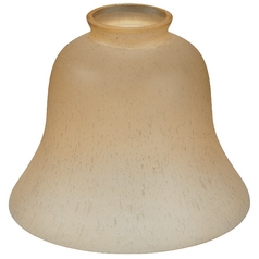 Design Classics Lighting Bell-Shaped Amber Glass Shade - 2-1/4-Inch Fitter Opening G9999