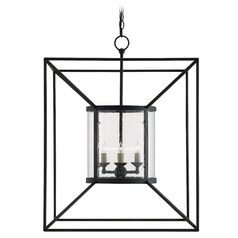 Currey and Company Ennis Black Bronze Pendant Light