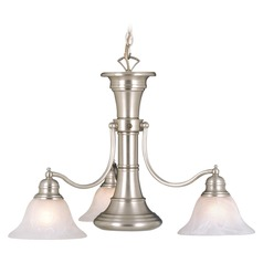 Standford Brushed Nickel Chandelier by Vaxcel Lighting