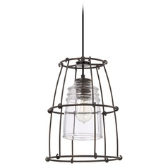 Capital Lighting Turner Nordic Grey Pendant Light with Bowl / Dome Shade