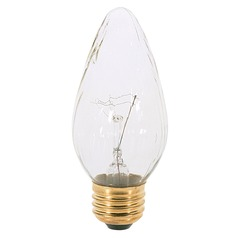 Incandescent F15 Light Bulb Medium Base 120V Dimmable by Satco