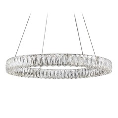 Crystal Chrome LED Pendant with Clear Shade 4000K 2300LM