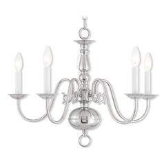 Livex Lighting Williamsburgh Polished Chrome Chandelier