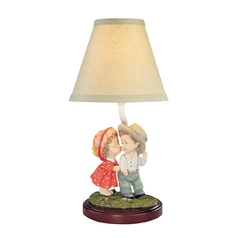 Design Classics Children's Accent Table Lamp with Two Shades 18 THE KISS