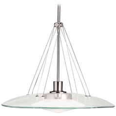 Kichler Modern Pendant Light with Clear Glass in Brushed Nickel Finish