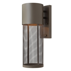Modern Outdoor Wall Light in Buckeye Bronze Finish