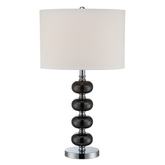 Modern Table Lamp  in Gun Metal / Chrome Finish